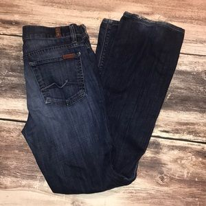 7 for mankind high waist boot jeans size 28